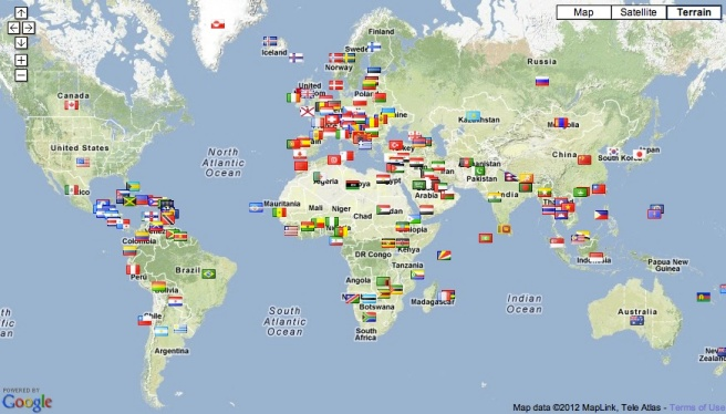 169 of 196 countries in the world have visited my blog